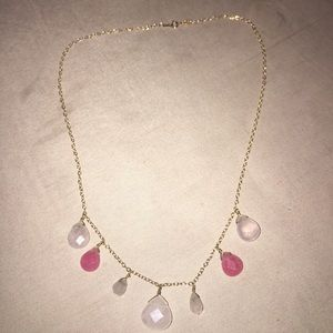 Jewelry - 14 kt yellow gold and stone necklace